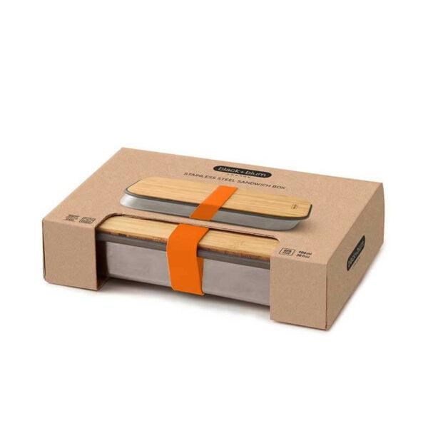 Marmita-Sandwich-Box-Black-Blum-Mind-The-Trash_Laranja-Caixa