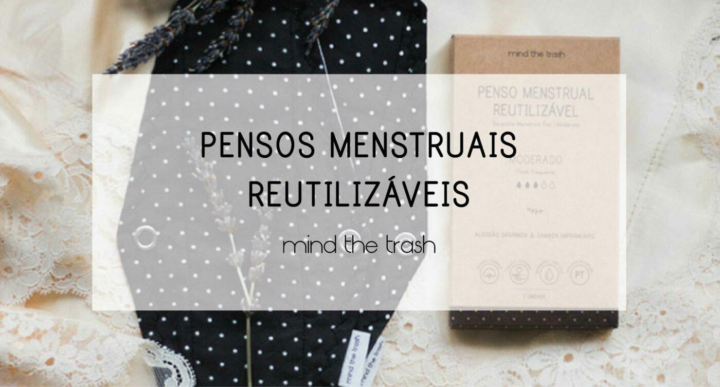 pensos menstruais reutilizáveis