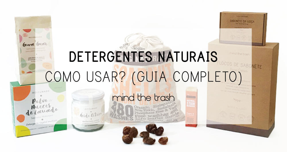 Produtos de limpeza naturais