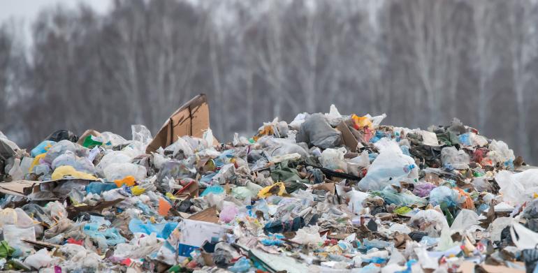 lixo produzido em casa